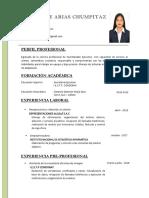 Curriculum Vitae EJEMPLO