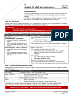 Infection Control Guidelines for Staff and Contractors PPM 08 MAY 17
