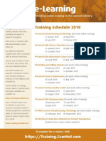 CemNet Training Schedule 2019