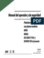 Manual de Operacion 600AJ