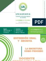2017 La Escritura Como Proceso Uniag.