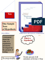Lecture 6 One Sample Tests of Hypothesis