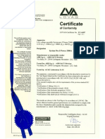Certificate Lovag Acae IT 14.097 System Pro E Power LS 2500A