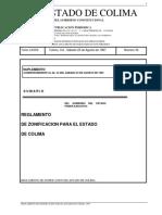 1997_Reglamento de Zonificación Edo de Colima
