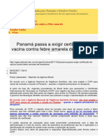 Exigencia Vacina Contra Febre Amarela Pelo Panama