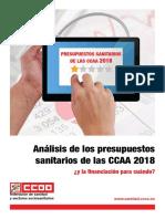 Informe Analisis de Los Presupuestos Sanitarios Por CCAA 2018