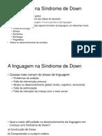 A Linguagem Na Síndrome de Down