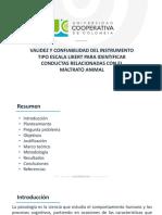 Coloquio de Investigacion - Validez y Confiabilidad Instrumento