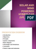 Solar and Wind Powered Hybrid Car