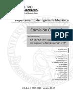 Reglamento 67.98 y 67.99 - Trabajo Profesional de Ingeniería Mecánica v17.03