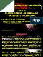 TEMA 3 Sistemas de Transporte Resumen Transporte Multimodal AD2017