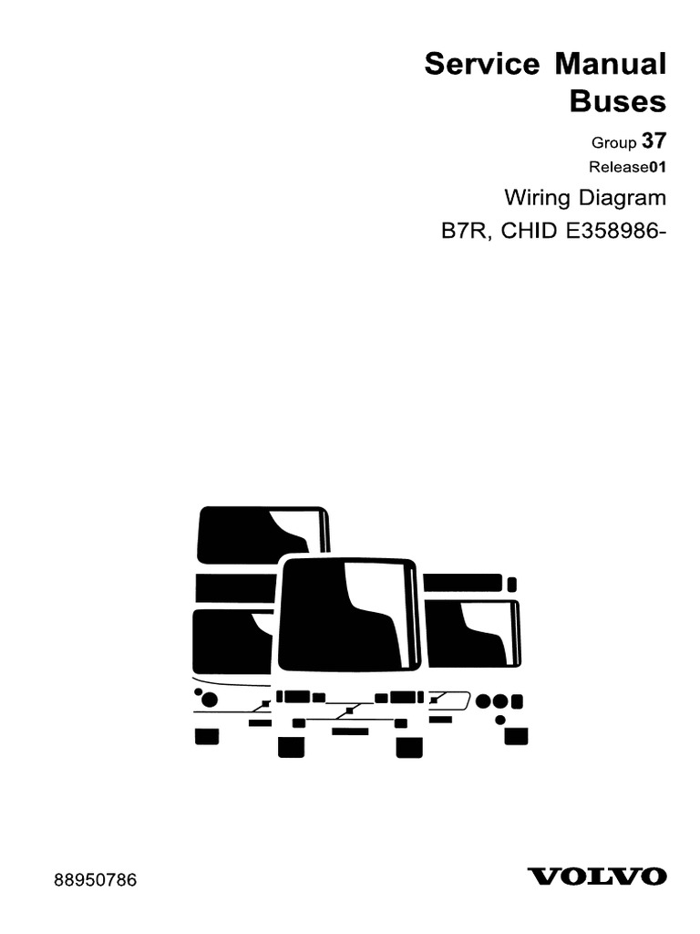 Wiring diagram 88950786-B7R D7E chn 358985-.pdf | Volvo B7r Wiring Diagram |  | Scribd