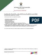 Constancia de Municipalida de Arequipa