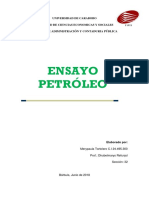 Ensayo Petroleo