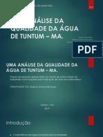 3º Ano a - Enilson Slide - Uma Análise Da Qualidade Da Água de Tuntum