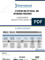 Fast Method to Define and Test Recall and Withdrawal Procedures
