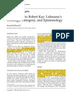 Luhmann's Ontology