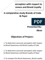 Consumer Perception With Respect to Brand Awareness