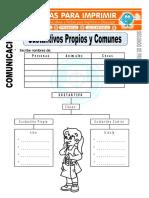Ficha de Sustantivos Propios y Comunes Para Segundo de Primaria (1)