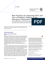 AAP Best Practices for Improving Flow and Care of Pediatric Patients in the Ed