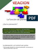 2.1. La Función de Planeación