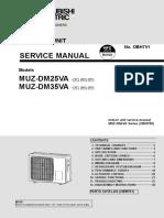 Mitsubishi Muz Dm25va Muz Dm35va
