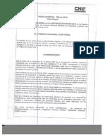 Resolución de inscripción DAE al CNE