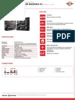 Msi b450m Bazooka v2 Datasheet