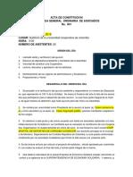 ACTA DE CONSTITUCIÓN