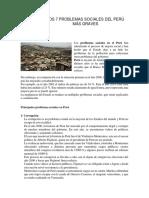 Los 7 Problemas Sociales Del Perú Más Graves