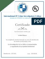 Certificado Curso Richard Blanco