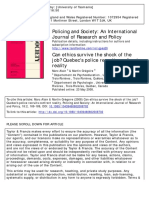 Policing and Society- An International Journal of Research and Policy