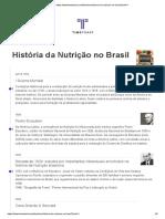 Historia Da Nutricao No Brasil