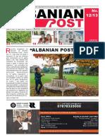 Albanian Post - SHTATOR