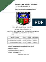 INFORME N°01 LABORATORIO DE QUIMICA GENERAL