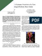 MechBass - A Systems Overview 2012
