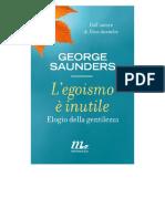 George Saunders, L'egoismo è inutile