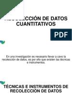Recoleccion de Datos Cuantitativos