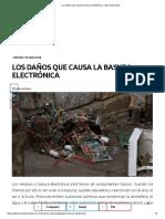 Los Daños Que Causa La Basura Electrónica - Muy Interesante