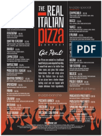 TheRealItalianPizzaCompany Menu 1