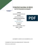 Fundamentos Teóricos de Administración y Producción
