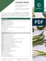 OPTAVIA Vegetarian Info Sheet