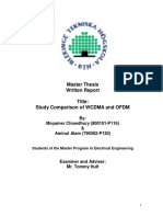 Study Comparison of WCDMA and OFDM