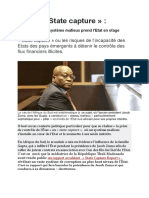 State Capture Ou Le Contrôle Mafieux de l'Etat Dans Les Pays Émergents.