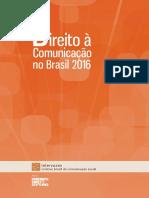 Direito a comunicação no Brasil 2016