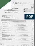 CASC Marking Sheet 1