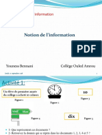 Unité I-S1-1 Notion d'Information
