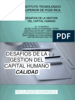 Calidad, desafios de la gestion del capital humano