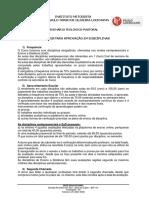 Critérios para aprovação em disciplinas IPL