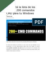 200 Comandos CMD Para Tu Windows